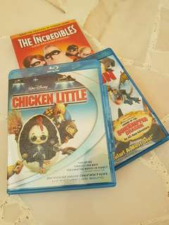 Chicken Little & How To Train Your Dragon (2 Blu Ray for $10!)