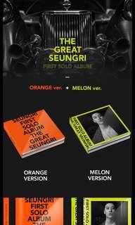 PRE-ORDER SEUNGRI FIRST SOLO ALBUM - THE GREAT SEUNGRI