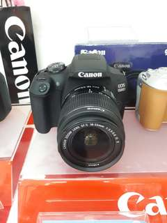 Kamera Canon 1500D New DSLR (Kredit TANPA CC)