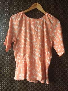 apple and eve peplum blouse