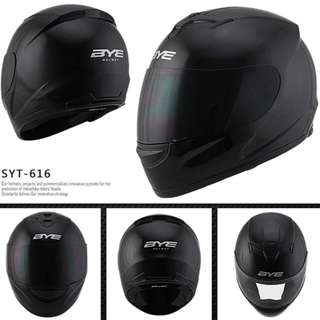 Gloss Black Full Face Motorcycle Helmet Bike