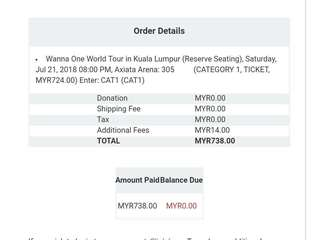 Wts Wanna One World Tour in Malaysia
