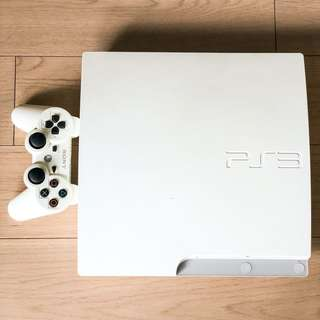 PS3 白色主機 連 15 正版遊戲 不散賣 PS3 with 15 games and controller