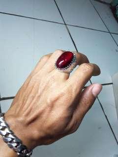 Batu cincin mirah siam big size