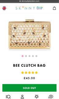 Skinny Dip Honey Bee Clutch