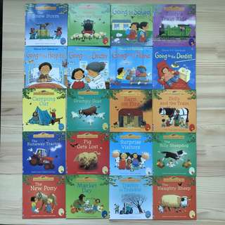 Usborne Farmyard Tales and First Experiences Series (20 Books)