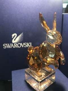 Swarovski 水晶擺設 絕版 兔年 生肖 crystal