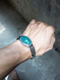 Gelang titanium super bluish green aussy