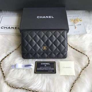 Chanel WOC Caviar (wallet on chain)