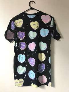 Killstar Candy Heart Motif Shirt