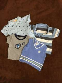 Tops for Baby boy size 0-12months