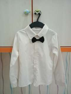 White Shirt with Bow Tie