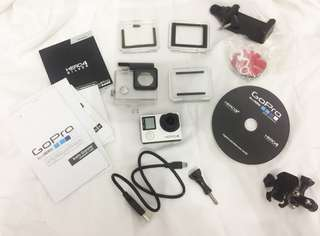 Go-pro Hero 4 Silver Fullset SECOND (ORIGINAL)