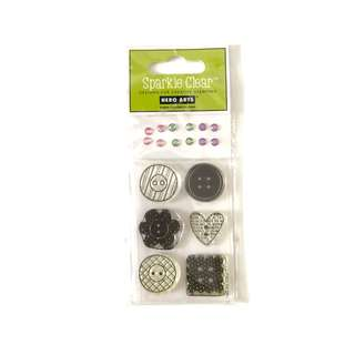 Hero arts button design clear cling rubber stamp