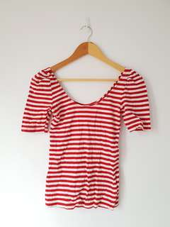 People are People stripes blouse