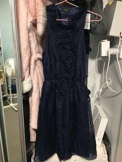 Dark blue dinner dresses formal