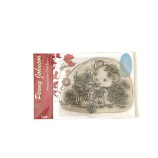 Penny Johnson bear clear cling rubber stamp