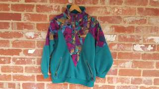Free Post - Vintage 1990s Windbreaker Flesse M