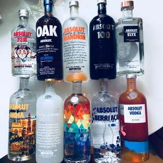 Absolut Vodka 1L Ltd Editions& Assorted Flavours