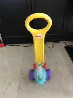 Elephant pop and push baby walker toy