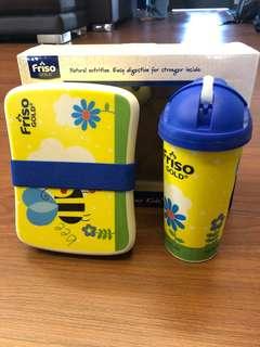 Friso Bamboo Fiber Kids Lunch Box Set
