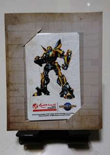 RWS USS Transformers Bumblebee EZ-Link card (Limited Edition)