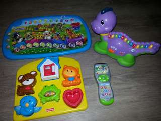 Leapfrog and fisherprice toys