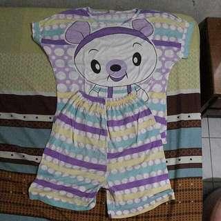 PROMO! Baju Tidur Babi Ungu