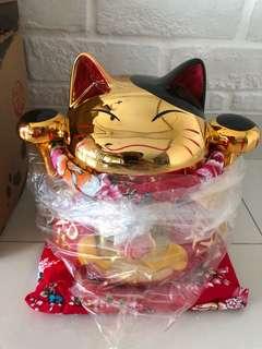 Chrome Gold HK Fortune Cat