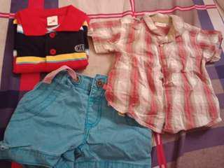 Bundle sale 2pcs. polo with short