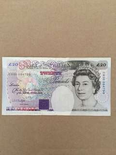 Old Note - £20
