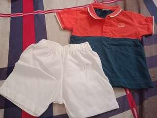 Bundle sale polo and shorts terno