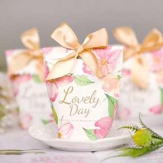 Printed Wedding Paper Candy Bag
