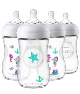 🚚 Philips Avent Natural 9oz (4pack) Seahorse