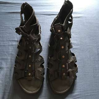 Me too Gladiator Sandal Black