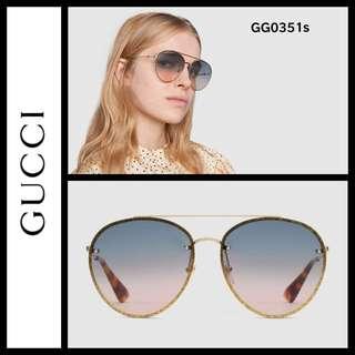 Gucci GG0351s avaitor sunglasses 2018 style 太陽眼鏡