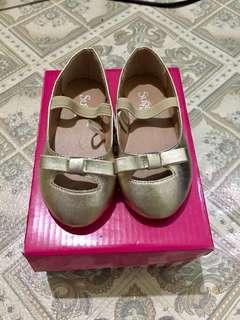 Sugar kids gold shoes