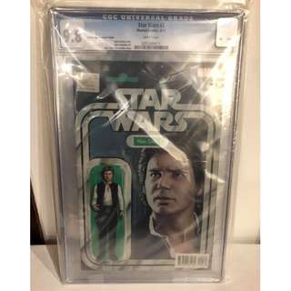 CGC 9.8 Star Wars #2 Han Solo Action Figure Variant by John Tyler Christopher