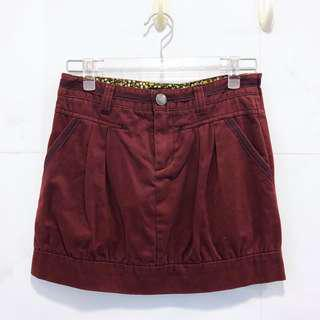 b+ab burgundy red skirt