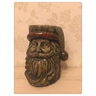 🚚 聖誕老人 仿木雕刻品