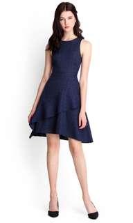 Navy blue OL dress