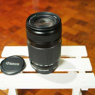 Canon 55-250mm f/4-5.6 zoom lens