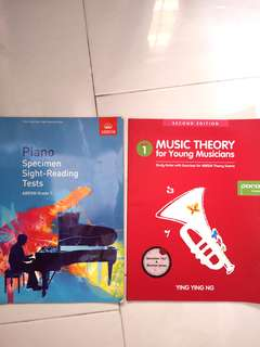 Piano Books (Grade 1 - young musicians) free *new* manuscript book!