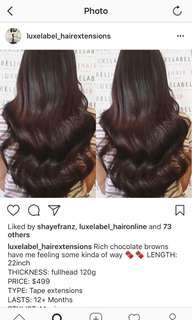 Luxelabel tape extensions