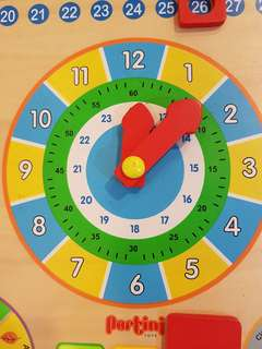 Clock & weather wooden board/display