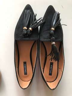 Zalora Suede Loafers with Tassles