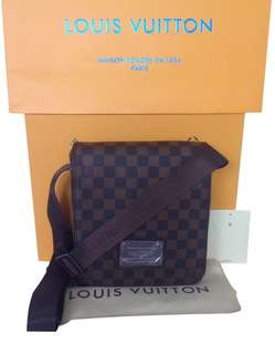 LV Brooklyn Damier Ebene PM Graphite Sling Bag