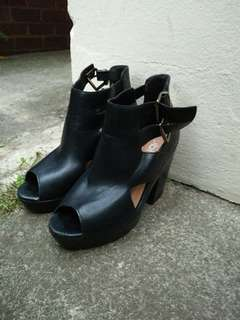 Black high-heel boots for sale