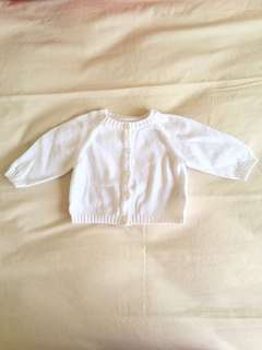 Mothercare white cardigan knit
