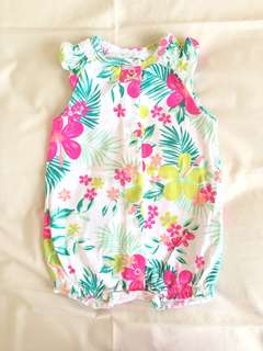 Carter's bodysuit flower